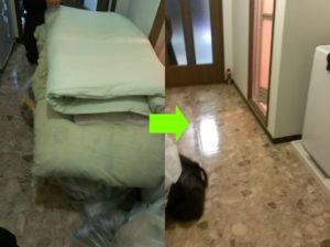 大阪市北区で衣類、布団など回収写真1