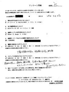 大阪市にてゴミ屋敷の片付け お客様の声