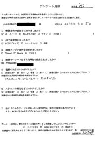 大阪府八尾市にてゴミ屋敷整理とハウスクリーニング お客様の声