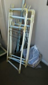 東成区にてカーテン、物干しなどの回収3