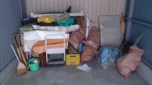 旭区にて、荷台、掃除用具などの回収1
