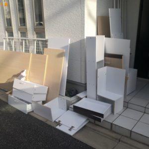 【松原市】ロフトベッド、テレビ、キャビネット、机の回収・処分
