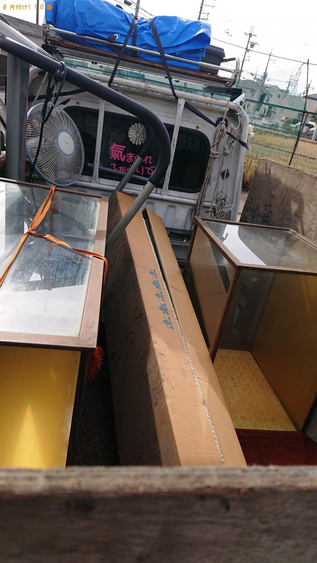 【柏原市】電気ストーブ、金庫、スチール棚、机の回収・処分ご依頼