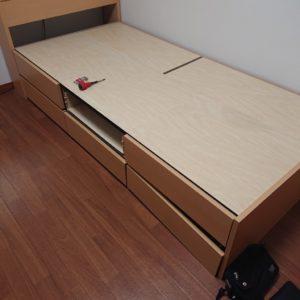 【吹田市広芝町】収納付きシングルベッドの枠の回収・処分ご依頼