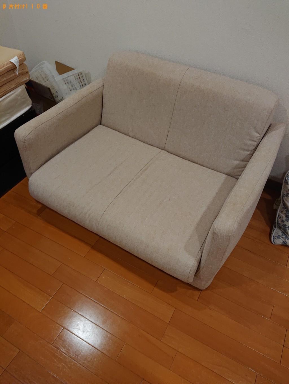 【大阪市西区】シングルベッド、ソファーの回収・処分ご依頼