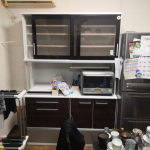 【高槻市如是町】食器棚の回収・処分ご依頼 お客様の声