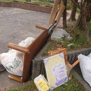 【堺市中区】テーブル、カゴ、発泡スチロール等の回収・処分ご依頼