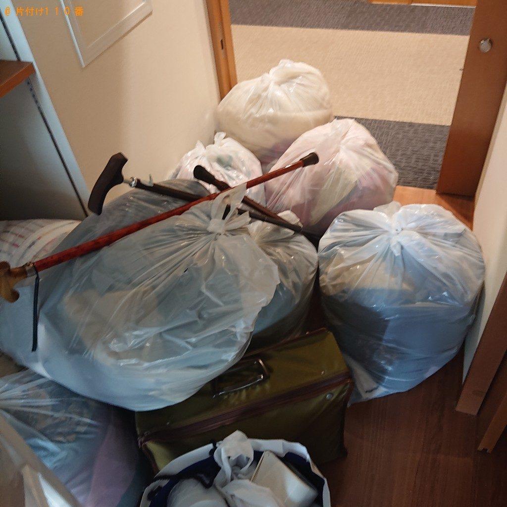【田尻町】遺品整理に伴いカラーボックス、布団、家庭ごみの回収・処分ご依頼