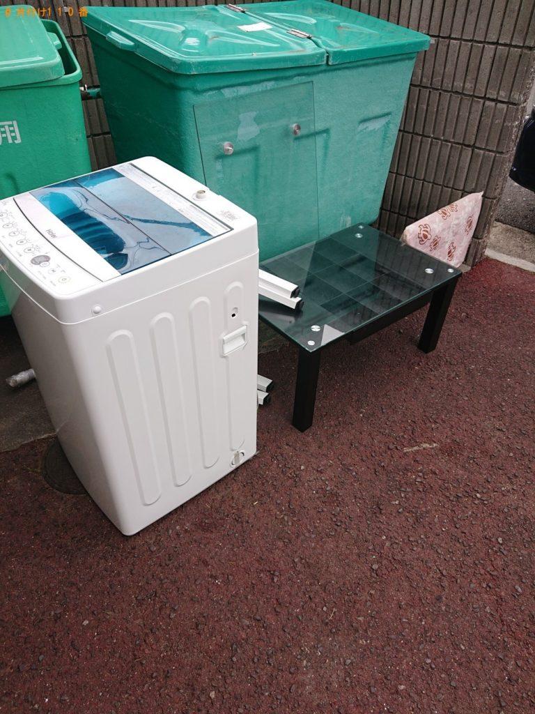 【吉見町】洗濯機、ガラステーブル、デスクトップPCの回収・処分