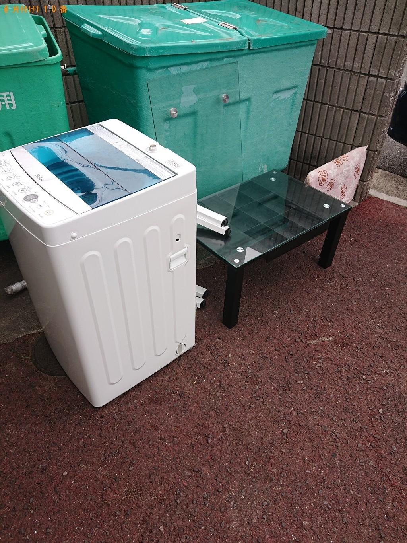 【堺市中区】洗濯機、ガラステーブル、デスクトップPCの回収・処分