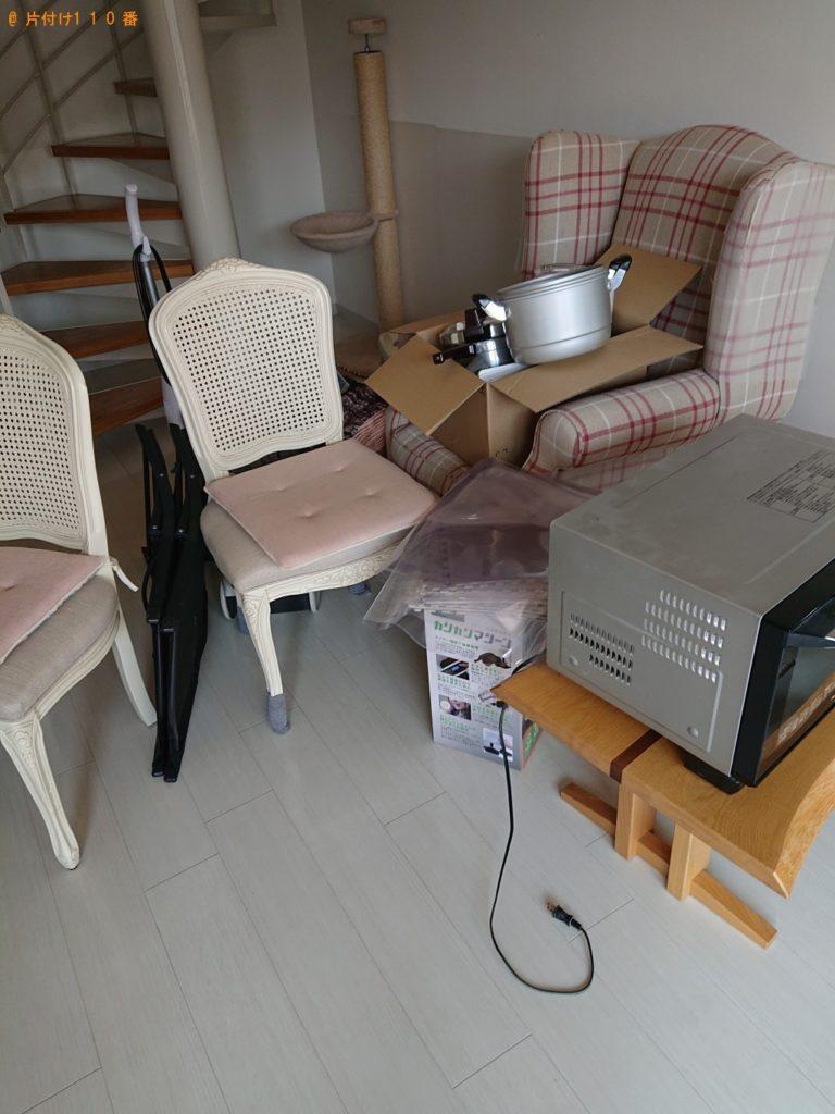 【知立市】ソファー、椅子、食器、掃除機、電子レンジ等の回収・処分