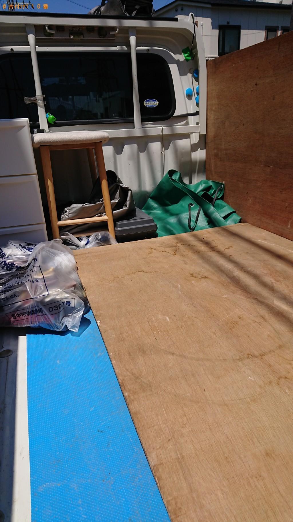 【豊中市野田町】衣装ケース、椅子、パーテーション、一般ごみの回収