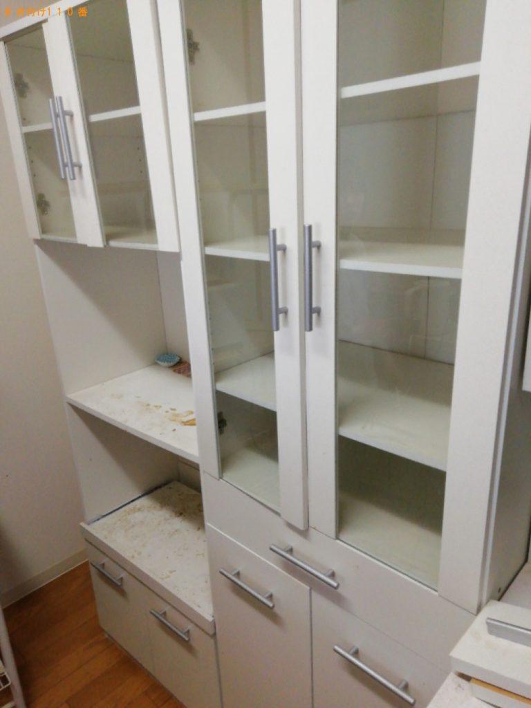 【豊中市】遺品整理で食器棚、家電、セミダブルマットレスの回収・処分ご依頼