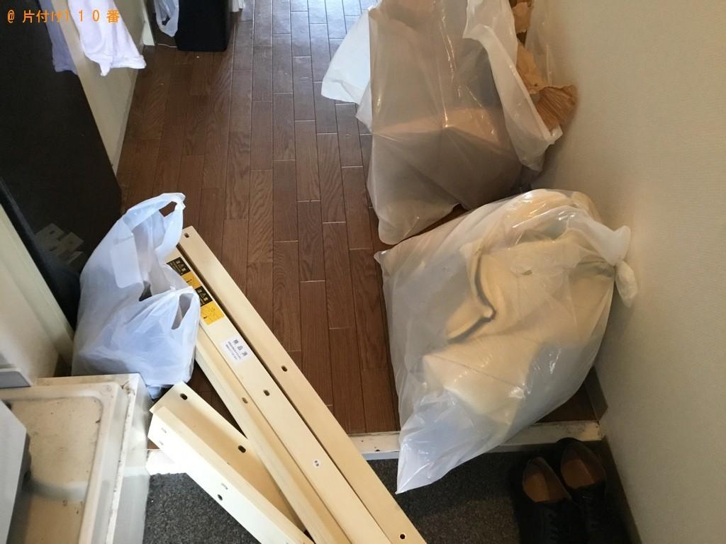 【大阪市淀川区】脚付きシングルベッドマットレス等の回収・処分