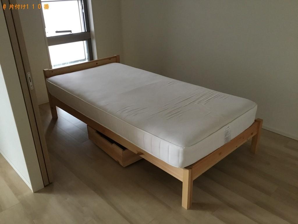 【大阪市北区】シングルベッド、ベッドマットレスの回収・処分ご依頼