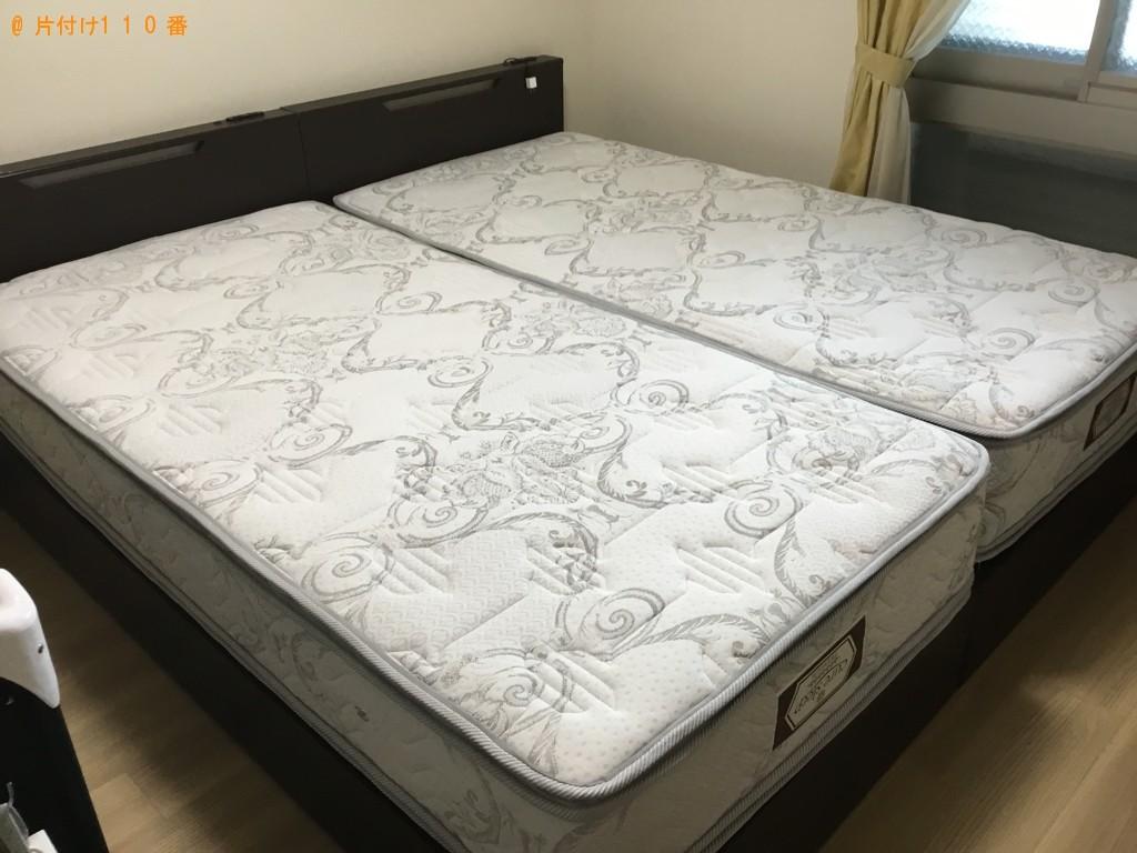 【大阪市阿倍野区】シングルベッド、ベッドマットレスの回収・処分
