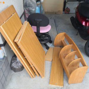 【高槻市大塚町】椅子、学習机等の回収・処分ご依頼 お客様の声
