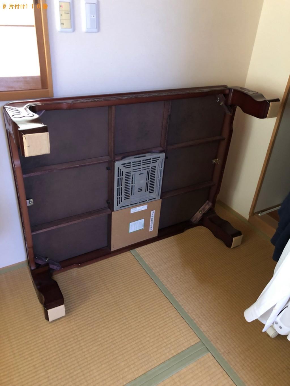 【豊根村】学習机、こたつ、椅子の回収・処分ご依頼 お客様の声