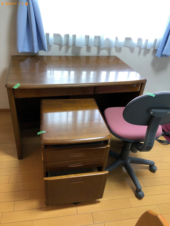 【能勢町】遺品整理で学習机、こたつ、椅子の回収・処分ご依頼 お客様の声
