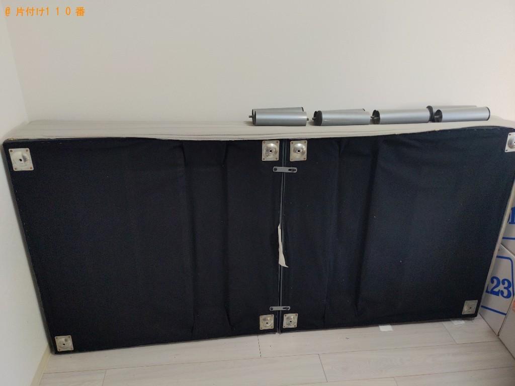 【大阪市阿倍野区】マットレス付きシングルベッドの回収・処分ご依頼
