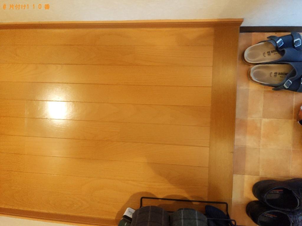 【大阪市城東区】カーペット、ガラステーブル、二人用ソファーの回収