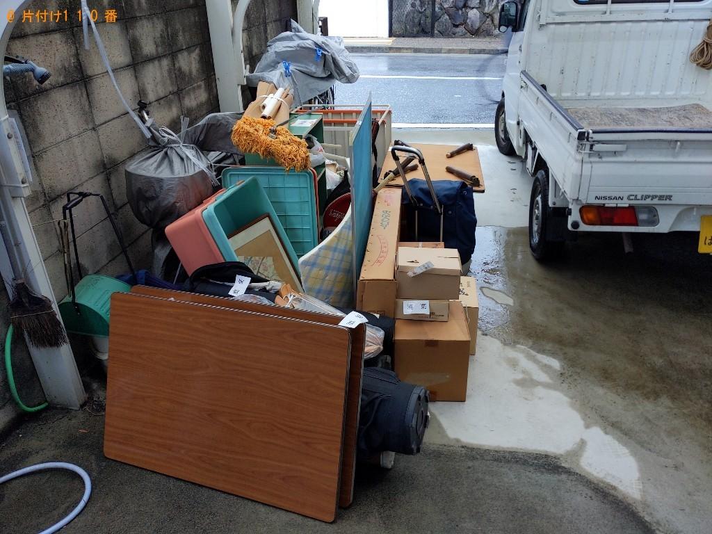 【枚方市】遺品整理で簡易ソファー、衣装ケース、ゴルフバッグ、クラブ等の回収