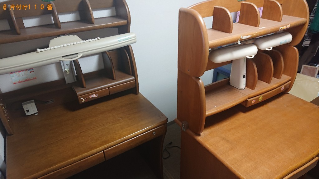 【堺市東区】衣装ケース、椅子、学習机の回収・処分ご依頼