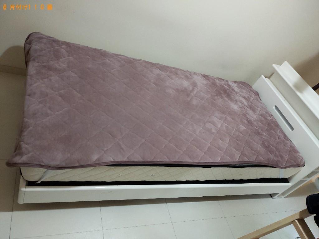 【高槻市桜ケ丘北町】マットレス付きシングルベッドの回収・処分