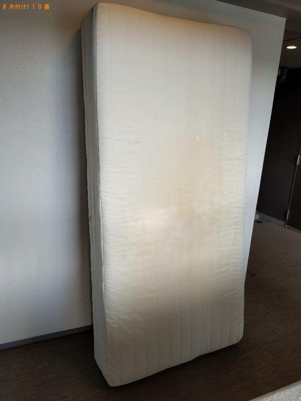 【大阪市浪速区】マットレス付きシングルベッドの回収・処分ご依頼