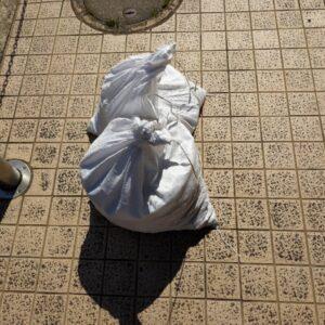 【豊中市新千里東町】中身の入った土嚢袋の回収・処分ご依頼