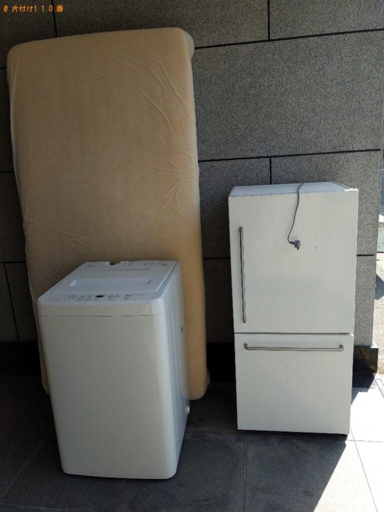 冷蔵庫、マットレス付きシングルベッド等の回収