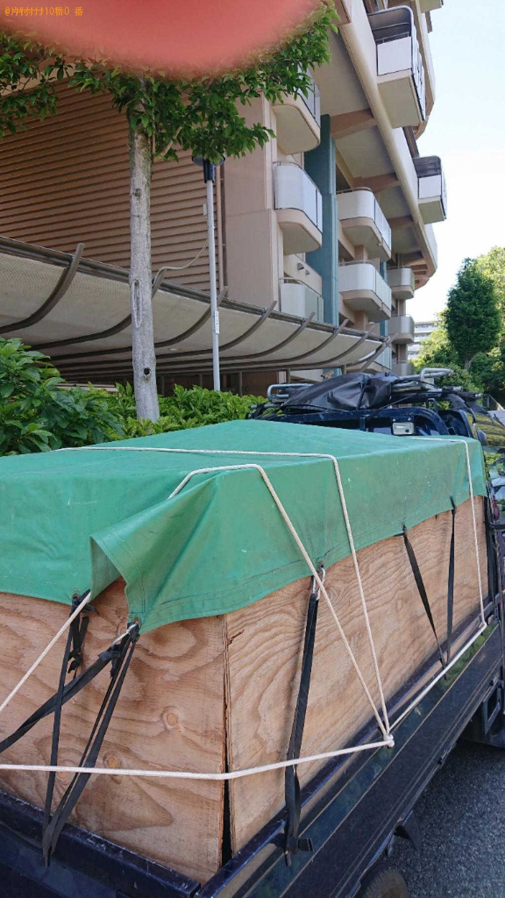 【堺市南区】テレビ、折り畳みベッド、テレビ台、自転車等の回収