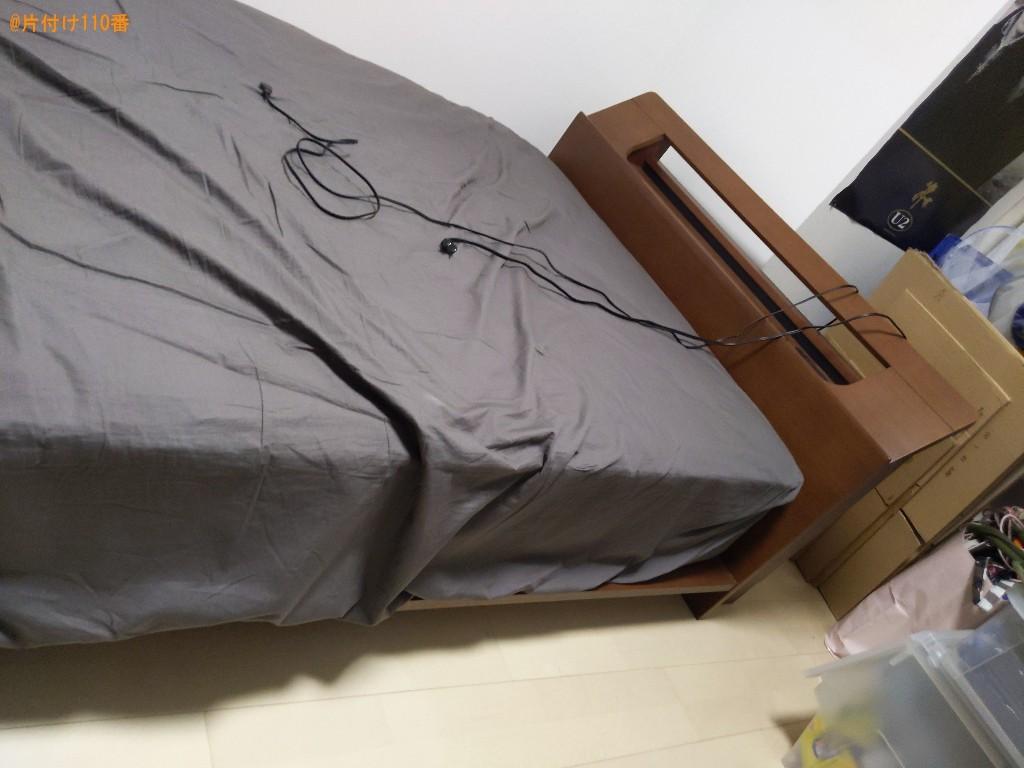 【大阪市港区】マットレス付きセミダブルベッドの回収・処分ご依頼