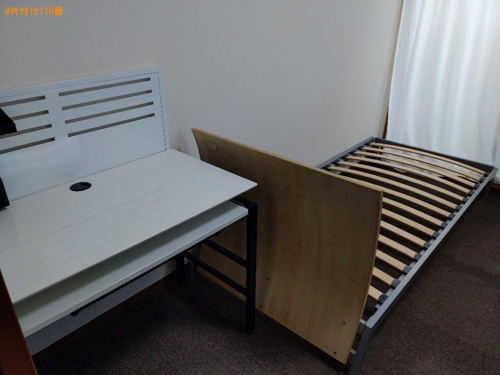 【大阪市北区】シングルベッド、PCデスクの回収・処分ご依頼
