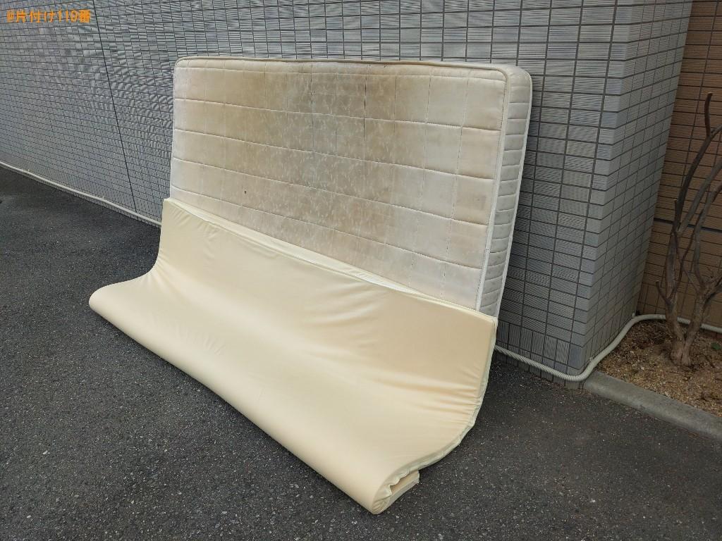 【堺市北区】布団、セミダブルマットレスの回収・処分ご依頼